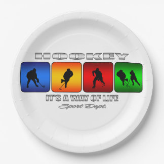 Cool Hockey It Is A Way Of Life 9 Inch Paper Plate