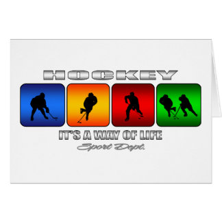 Cool Hockey It Is A Way Of Life Card