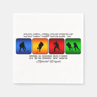 Cool Hockey It Is A Way Of Life Disposable Serviettes