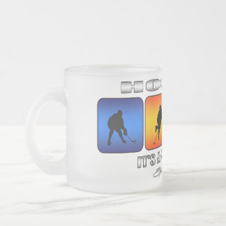 Cool Hockey It Is A Way Of Life Frosted Glass Coffee Mug