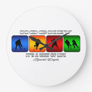 Cool Hockey It Is A Way Of Life Large Clock