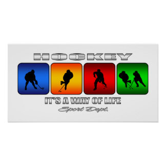Cool Hockey It Is A Way Of Life Poster