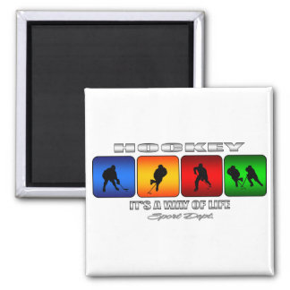 Cool Hockey It Is A Way Of Life Square Magnet