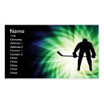 Cool Hockey Player Business Card Templates