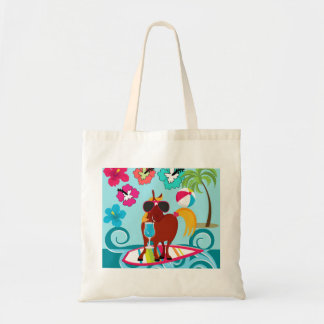 Cool Horse Surfer Dude Summer Fun Beach Party Tote Bag