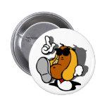 Cool Hot Dog Dancer Pinback Button