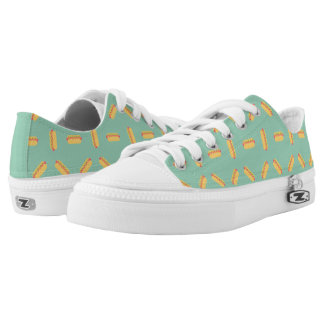 Cool Hot Dogs Pattern Low Tops