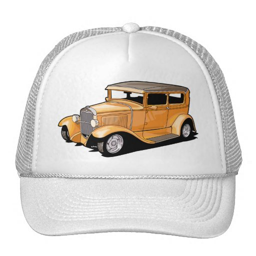 Cool Hot Rod Coupe Mesh Hats