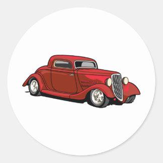 Cool Hot Rod Round Sticker