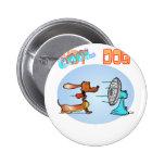 Cool Hotdog Pinback Button