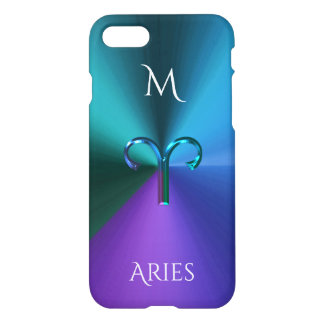 Cool Hued Metallic Zodiac Sign Aries iPhone 8/7 Case