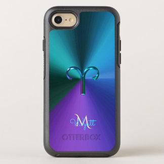 Cool Hued Metallic Zodiac Sign Aries OtterBox Symmetry iPhone 7 Case