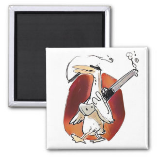 cool hunter duck funny cartoon magnet