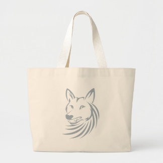 Cool Hunting Coyote Logo Large Tote Bag