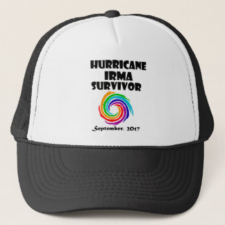Cool Hurricane Irma Survivor Art Trucker Hat