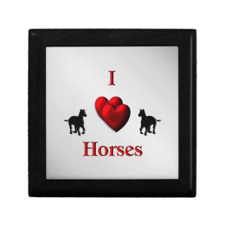Cool I Heart Horses Design Gift Box