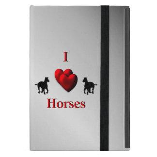 Cool I Heart Horses Design iPad Mini Cover