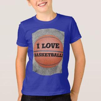 Cool I Love Basketball Fun Kids Shirt