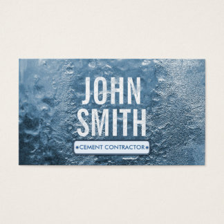 Cool Ice Age Cement Contractor Business Card