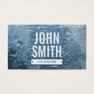 Cool Ice Age Civil Engineer Business Card