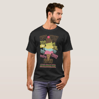 COOL ICE CREAM LOVERS GRAPHIC TEE SHIRT
