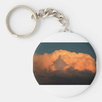 Cool Image of Jesus on Clouds Keychains