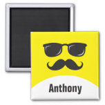Cool incognito agent personalised name magnet