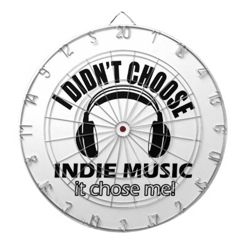 Cool indie music designs dartboards