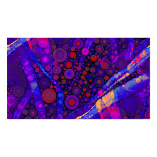 Cool Indigo Concentric Circles Abstract Mosaic Business Cards