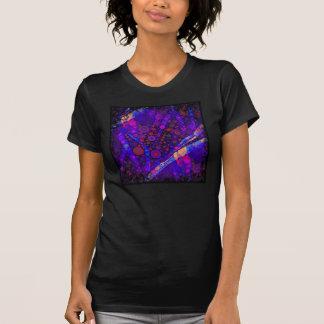 Cool Indigo Concentric Circles Abstract Mosaic Shirt