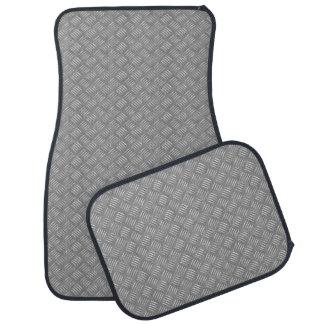 Cool industrial steel panel pattern floor mat