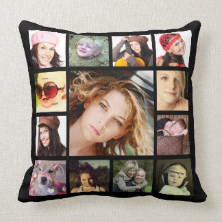 Cool Instagram Photo Collage Cushion