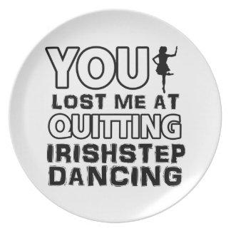 Cool Irish Step dancing dance designs Plate