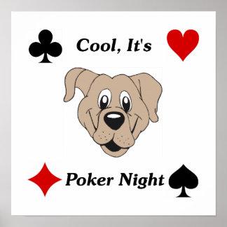 Cool, It's Poker Night Print