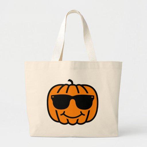 Cool jack-o-lantern with sunglasses bag