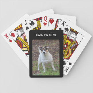 Cool Jack Russell  playing cards