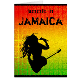 Cool Jammin in Jamaica Reggae Rastaman Rastafari Card