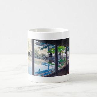 Cool japanese garden lake mountain scenery coffee mugs