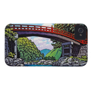 Cool japanese great forest bridge river waterscape iPhone 4 cases