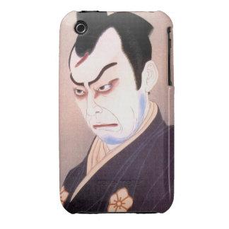 Cool japanese kabuki actor samurai hanga portrait Case-Mate iPhone 3 cases