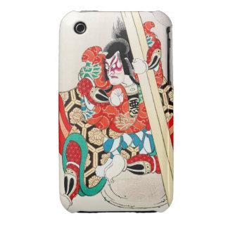 Cool japanese kabuki warrior actor samurai man art iPhone 3 cover
