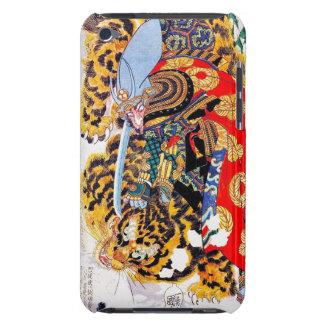 Cool japanese  Legendary Samurai fight tiger art iPod Touch Cases