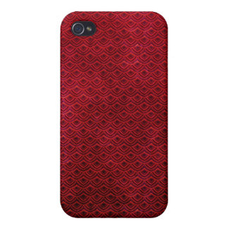 Cool japanese oriental cherry red fish scale iPhone 4 cover