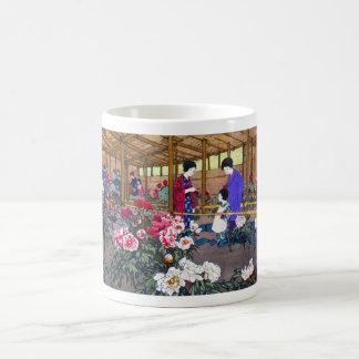 Cool japanese oriental flower garden people scene mugs