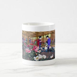 Cool japanese oriental flower garden people scene coffee mugs