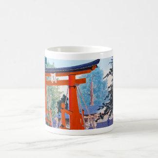 Cool japanese Tokuriki Shrine entrance forest Mug