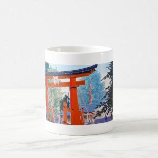 Cool japanese Tokuriki Shrine entrance forest Coffee Mugs