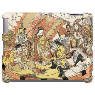 Cool japanese ukiyo-e mythical dragon ship crew