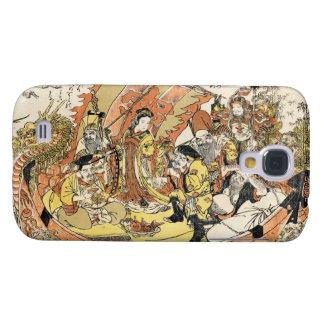 Cool japanese ukiyo-e mythical dragon ship crew galaxy s4 cover