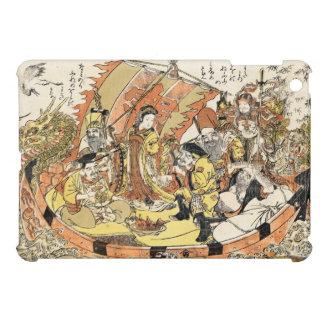 Cool japanese ukiyo-e mythical dragon ship crew iPad mini covers